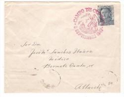 Carta De España. Con  Matasello Campo De Criptana En Rojo.1947 - 1931-50 Covers