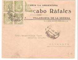 Carta De España. Con  Viseccion. Matasello Badajoz. - 1931-Today: 2nd Rep - ... Juan Carlos I
