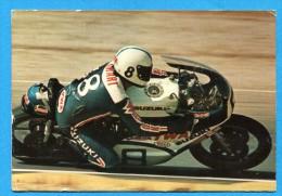 OV1011, Suzuki, Paul Smart,no8, Royaume-Uni,Pilote,Grand Prix,Angleterre,Great-Britain,F/595,GF, Circulée Date Illisible - Sport Moto