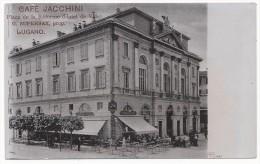 Lugano - Cafè Jacchini - Place De La Rèforme - HP856 - TI Tessin