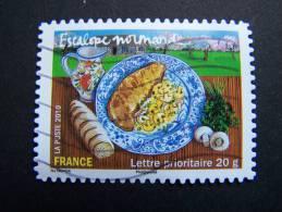 OBLITERE FRANCE ANNEE 2010 N° 432 ESCALOPE NORMANDE SERIE SAVEURS DE NOS REGIONS AUTOCOLLANT ADHESIF - France