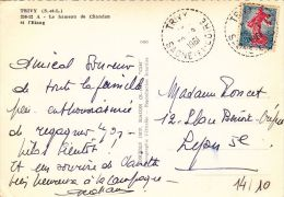 SAONE ET LOIRE - Oblit  De Type B6/B7 - TRIVYB7123330/08/61 (Lot78bis_16) - Postmark Collection (Covers)