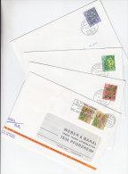 SCHWEIZ  1042-1045, Pro Juventute 1974 Auf 4 Bedarfsbriefen, Giftpflanzen Des Waldes - Pro Juventute
