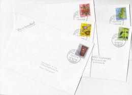 SCHWEIZ  1062-1066, Pro Juventute 1975 Auf 5 Bedarfsbriefen, Tag Der Briefmarke, Zierpflanzen Des Waldes - Pro Juventute