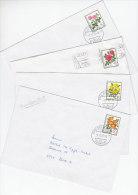 SCHWEIZ  1112-1115, Pro Juventute 1977 Auf 4 Bedarfsbriefen, Rosen - Pro Juventute