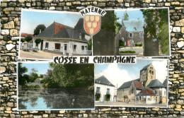 COSSE EN CHAMPAGNE - LA POSTE - PLACE DE L'EGLISE - LE CHATEAU - France