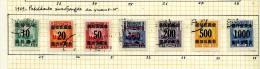 Chine 1949 Y&T Colis Postaux 29/36 Yuans-or  ° - 1912-1949 República