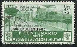 EGEO 1934 MEDAGLIE ESPRESSO AEREO SPECIAL DELIVERY AIR MAIL LIRE 4,5 + 2 USATO USED OBLITERE' - Egée
