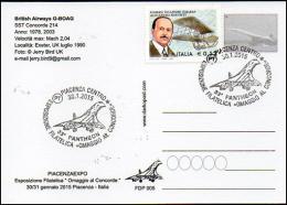 SST Supersonic Concorde 204 British Airways G-BOAC Aircraft Aviation Avion Aiplane Postmark Philatelic - 6. 1946-.. Repubblica