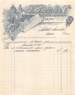 "03025 ""TORINO -  F.CE BARDELLI & C.IA - OTTICI MECCANICI"" CARTA INTESTATA ORIGINALE - Italia"