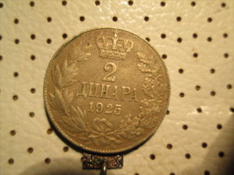 YUGOSLAVIA Kingdom Of SHS 2 Dinars 1925  1/1 - Yugoslavia