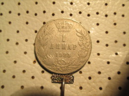 YUGOSLAVIA Kingdom Of SHS  1 Dinar 1925     1/1 - Yugoslavia