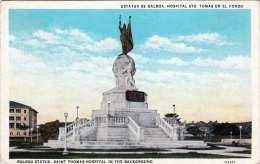 PANAMA Balboa Staue, Saint Thomas Hospital 1920?, Klebspuren Vom Album - Panama
