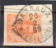 Colonie Eritrea  Scarce Cancel MASSAUA 1899!! (ik1) - Eritrea