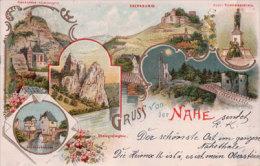 Allemagne, Gruss Von Der Nahe Saarland Litho1898 (1.12.98) - Halt Gegen Das Licht/Durchscheink.