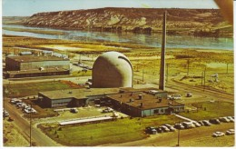 Richland Washington, Hanford Atomic Plant Power Station, Nuclear Power, C1960s Vintage Postcard - Buildings & Architecture