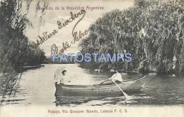 2364 ARGENTINA LOBERIA BS AS RIVER RIO QUEQUEN GRANDE YEAR 1906 POSTCARD - Argentinien