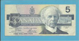 CANADA - 5 DOLLARS - ( 1986 ) - Pick 95.a2 - Sign. Crow-Bouey - 2 Scans - Canada