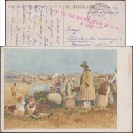 Hongrie 1918. Carte En Franchise, Au Profit Du Fonds Des Veuves Et Orphelins.. Peinture De Ferdis Dusa. Réfugiés - Refugees