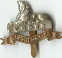 Insigne BRITANIQUE Royaume Unis - Cap Badge. LINCOLNSHIRE - Landmacht