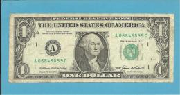 U. S. A. - 1 DOLLAR - 1985 - Pick 474 - ( A ) - BOSTON - MASSACHUSETTS - 2 Scans - Federal Reserve Notes (1928-...)
