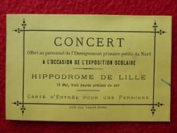 CARTE ENTREE HIPPODROME DE LILLE - Tickets - Entradas