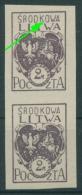 Mittellitauen 1920 Freimarke 3 B Mit Plattenfehler Postfrisch (R7072) - Lithuania