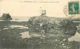 CPA       Pornichet  Les Rochers Et La Pointe Du Be    (animée)        1174 - Pornichet