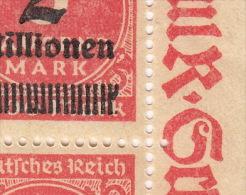 Drei Mal Selbst Abart Auf 312 / Sehr Sichtbar / Bogen Ecke Von 6 Bfm Neu Mit Gummi - Errors And Oddities