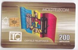 Moldova  - Chip  Phonecard  , 1997 , 200  UNITA , Used - Telecom Operators