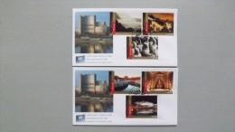 UNO-Wien 770/5 FDC, Wiener-Cachet, Aus MH/booklet,  UNESCO-Welterbe: China - Centre International De Vienne