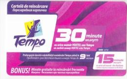 Moldova  , Tempo , Prepaid , 30 Minutes , Used - Telecom Operators