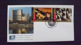 UNO-Wien 768/9 FDC, Wiener-Cachet, UNESCO-Welterbe: China - Centre International De Vienne