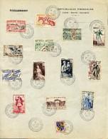 FRANCE Y&T 1953 OBL Feuillet Parlement 939-943-944-954-956-957-960-à-967 Congrès Parlement Versailles - 17/12/1953 - Gebraucht