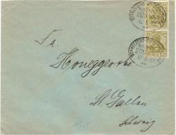 1921 Brief Deutschland Schneeberg, 147 MF Nach Schweiz Mi 793, Bahnstempel, Siehe Scan! - Cartas