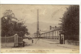 Carte Postale Ancienne Saint Rambert En Bugey - Avenue Des Usines - Autres Communes