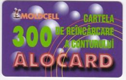 Moldova  , Moldcell , 2002 , Prepaid , 300 LEI , Plastic , Used - Telecom Operators