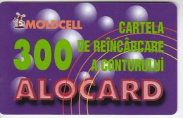 Moldova   Moldavie  , Moldcell , 2002 , Prepaid , 300 LEI , Plastic , Used - Telecom Operators