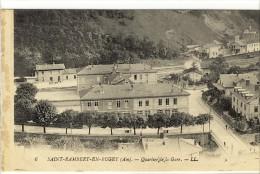 Carte Postale Ancienne Saint Rambert En Bugey - Quartier De La Gare - Chemin De Fer - Autres Communes