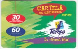 Moldova  , Voxtell , 2004 , Tempo In Ritmul Tau , 30/60  Minuts ;  Prepaid , Plastic , Used - Telecom Operators