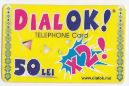 Moldova  , Liderfone , DIALOK ,  Telephone Cards  , 50 Lei  X 2 ; RARE , Plastic , Used - Telecom Operators