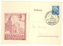 DDR Michel No. 410 gestempelt used auf Karte 1000 Jahre Grossenhain 1954