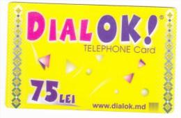 Moldova  , Liderfone , DIALOK , 2007 ,  Telephone Cards  , Phone Card , 75 Lei   ; Tip II ,  RARE , Plastic , Used - Telecom Operators