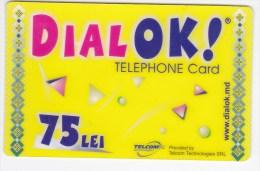 Moldova  , Liderfone , DIALOK ,  Telephone Cards  , Phone Card , 75 Lei   ; Tip III ,  RARE , Plastic , Used - Telecom Operators