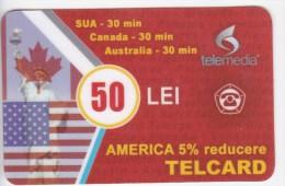 Moldova  , Telcard , TELEMEDIA ,  Telephone Cards  , Phone Card , 50 Lei   ; Tip I ,  RARE , Plastic , Used - Telecom Operators