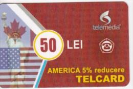 Moldova  , Telcard , TELEMEDIA ,  Telephone Cards  , Phne Card , 50 Lei   ; Tip II ,  RARE , Plastic , Used - Telecom Operators