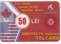 Moldova  , Telcard , TELEMEDIA ,  Telephone Card  , Phone Card , 50 Lei   ; Tip III ,  RARE , Plastic , Used - Telecom Operators