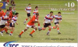 TONGA PREPAID RUGBY TCC 10$ UT PAS COURANT - Tonga