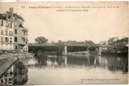 77. Lagny-thorigny. La Marne Et La Passerelle Provisoire Du Pont De Fer - Lagny Sur Marne