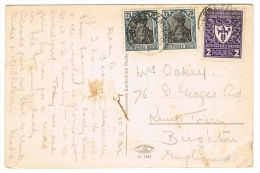 RB 1015 - 1922 Postcard - Germany To Brighton UK - Mixed Franking - View Of Saalburg - Covers & Documents
